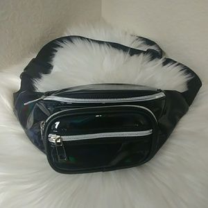 Shiny Black Fanny Pack